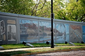 Part of Flood Wall Murals in Paducah
