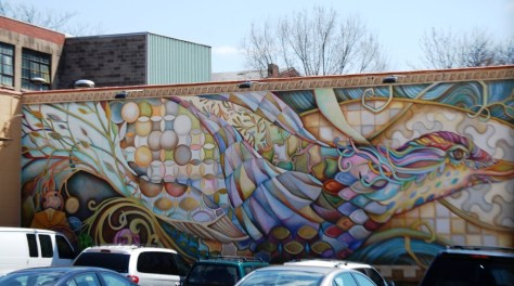 """""""The Migration of Tradition"""" by Tina Westerkamp on Race St. in Cincinnati"""