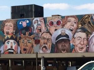 """Cincinnati's """"The Singing Mural"""" (detail) by C.F. Payne"""