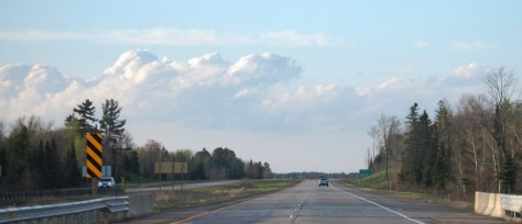 Amazing Clouds seen from the highway in northern Wisconsin