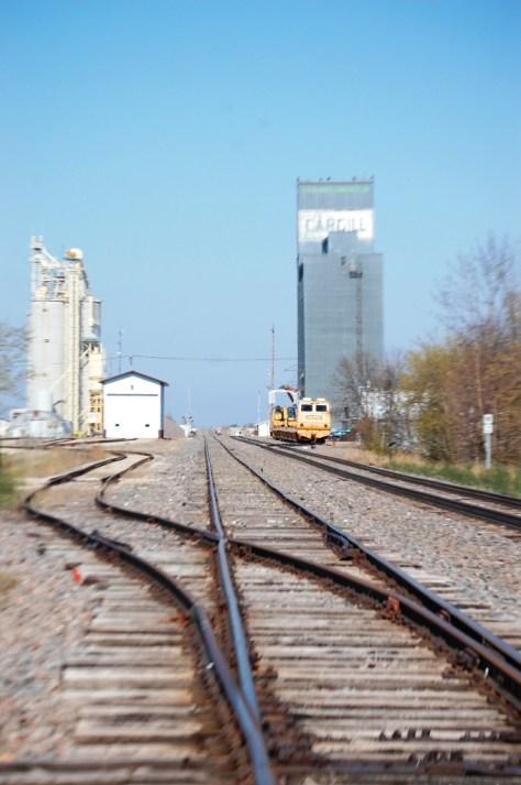 Crossing the tracks in Petersburg, ND
