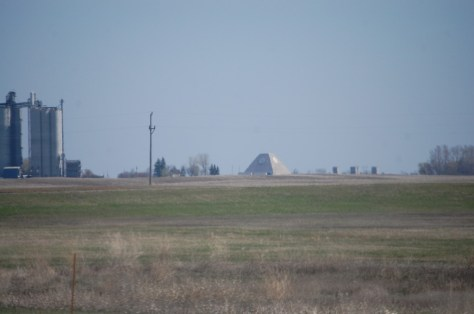 The famed North Dakota pyramid, a vestige of the cold war, as seen from ND Hwy 1 south of Nekoma, ND