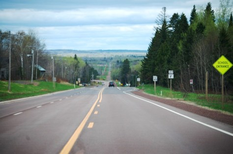 US Route 2 heading west out of Maple towards Superior, WI