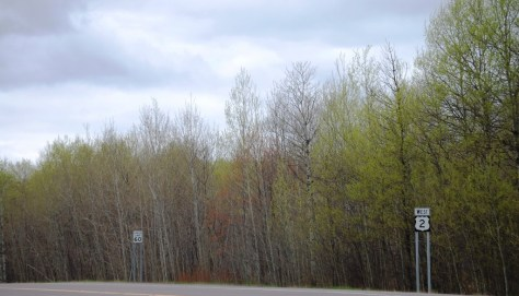 US Route 2 in eastern Minnesota