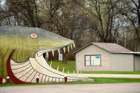 I love this angle - Big Fish Eats House!!  In Bena, MN