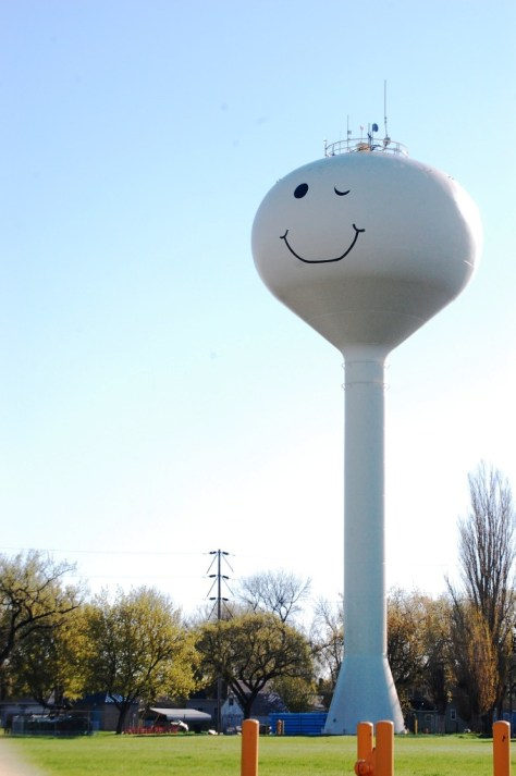Smiley Water Tower in Grand Forks, ND