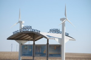 Langdon Wind Farm Info Center near Nekoma, ND
