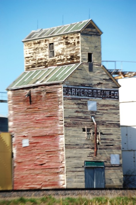 Wooden Grain Elevator in Saco, Montana
