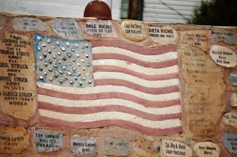 Veterans Memorial at the Depot Museum in Rudyard, MT