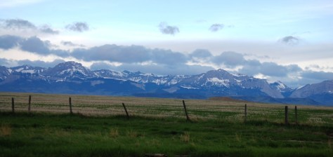 Another view of the Rocky Mountains just south of Dupuyer, Montana