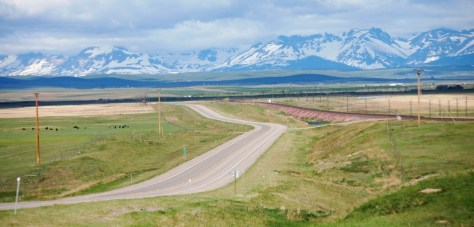 US Highway 2 near Browning, Montana and US Highway 89