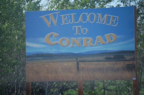 Welcome to Conrad, Montana