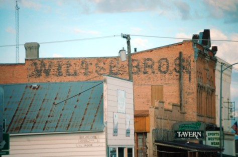 A ghost sign on an old building takes you back to the hey day of White Sulphur Springs