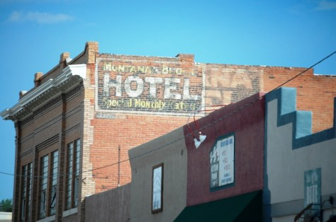 Ghost sign in Livingston, Montana
