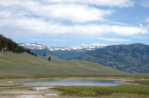 The Blacktail Lakes in Yellowstone