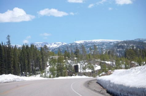 The Beartooth highway just east of Cooke City, Montana
