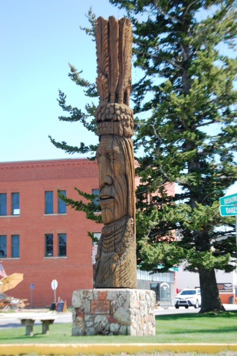 "Peter Toth's ""Whispering Giant"" of Red Lodge, Montana"