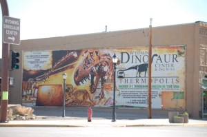 Large Sign about the Dinosaur Center in Thermopolis