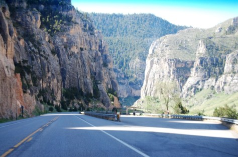 One of many spectacular views of Wind River Canyon