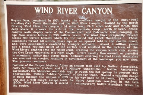 History of the Wind River Canyon