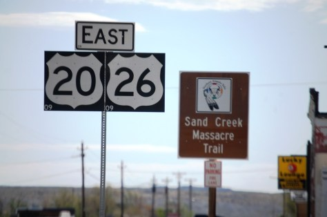 Highway Signs in Shoshoni, WY...part of the sand Creek Massacre Trail