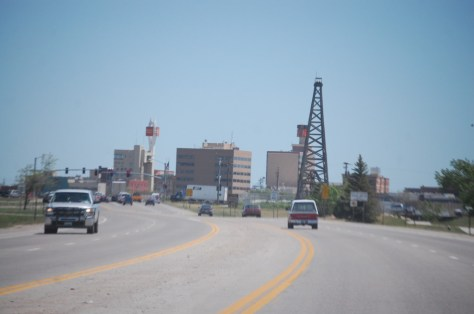 Entering Casper, Wyoming