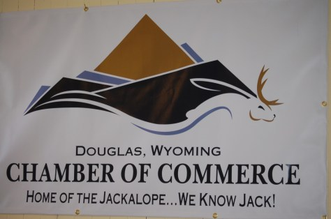 New Douglas Chamber of Commerce Logo with a Jackalope