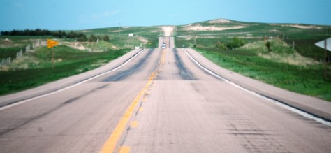 Rolling hills of US 20 in western Nebraska