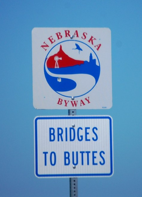 Bridges to Buttes Byway in western Nebraska on US 20