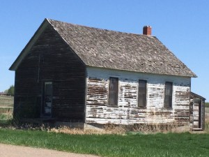 One of many old deserted buildings in Zurich, Montana