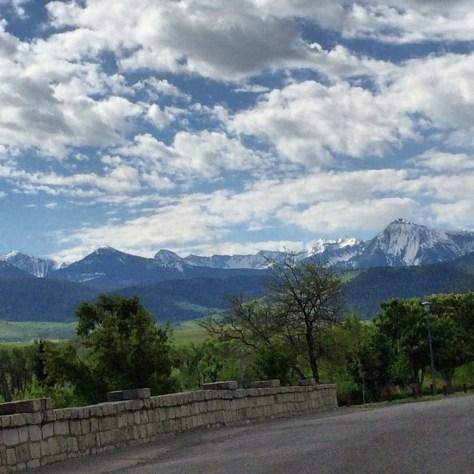 Mountain view from Sacajawea Park in Livingston, Montana