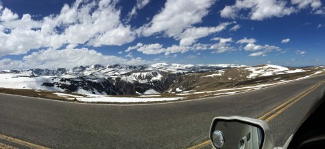 Panoramic Scene of Beartooth's at 11,000 feet