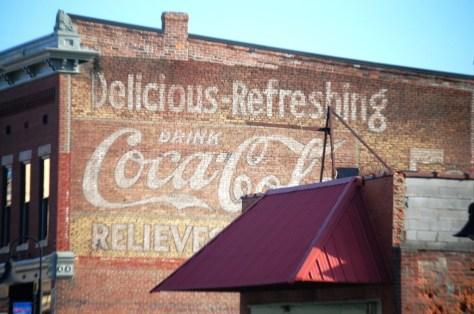 Ghost sign on a the side of a building in Guthrie, KY