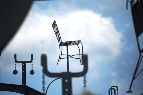 A solitary chair way up high on the Mindfield