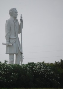 Stephen F. Austin Statue as seen from Highway 288 in Angleton, TX