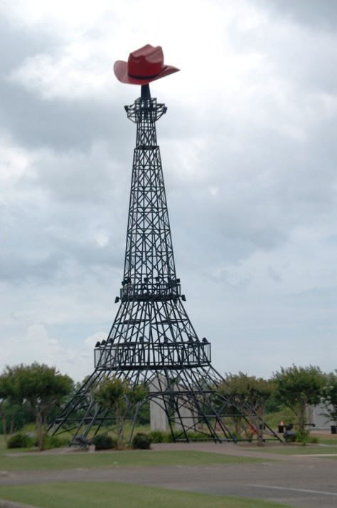The Paris, Texas Eiffel Tower with a Cowboy Hat on top