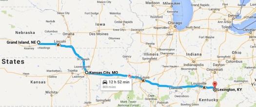 The Last Leg of a nine day trip - 870 miles from Grand Island, NE to Lexington, KY