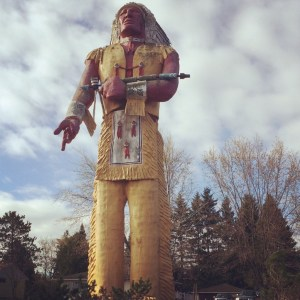 Famed Hiawatha Statue of Ironwood, MI