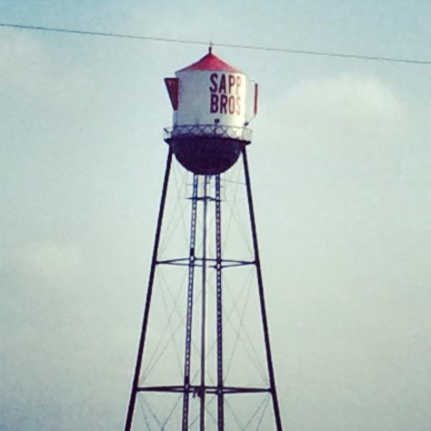 The famous Sapp Brothers Coffee Pot Water tower in Nebraska City