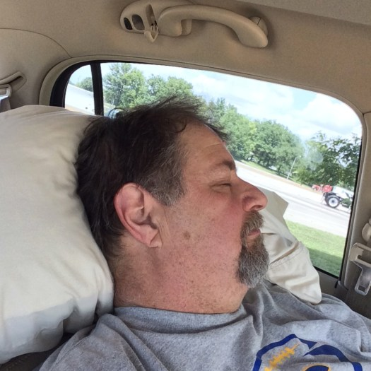 Nap time in Missouri - even Road Warriors gotta sleep