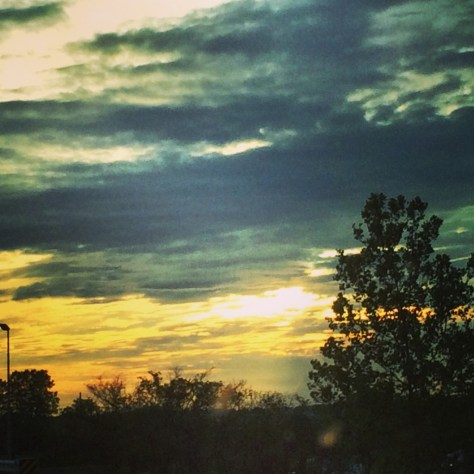 Sunset as seen from southern Illinois