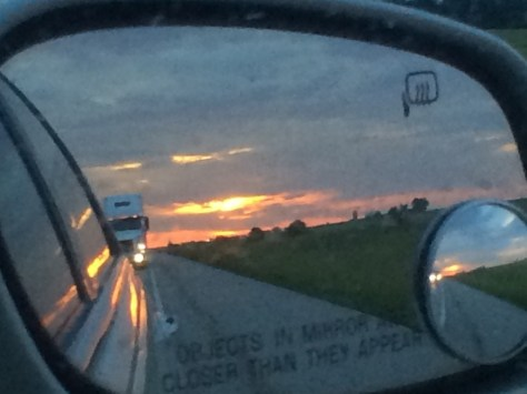 And this was the final sunset as seen in my rear view mirror as I finished off my trip