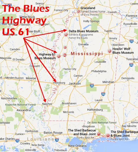 Highway 61 Visited The Blues Highway of Mississippi Day 1 Less