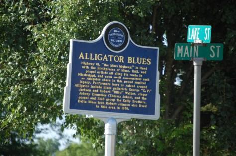Alligator Blues Marker in Alligator, MS