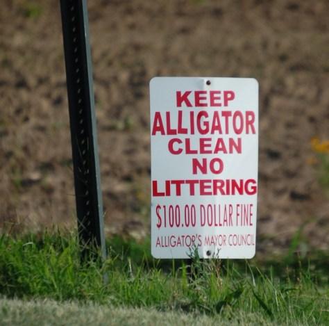 Keep Alligator Clean!