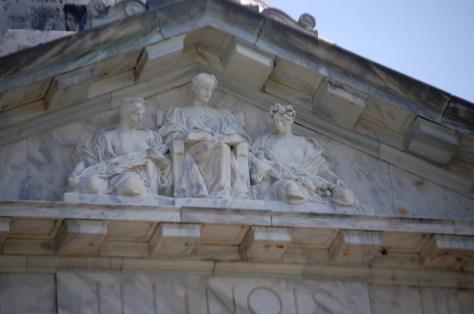 Relief sculpture on top of the Illinois Memorial in Vicksburg