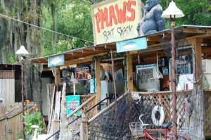 P'MAWS Bait Shack in Pierre Part, LA (Notice it is SWAMP spelled backwards)