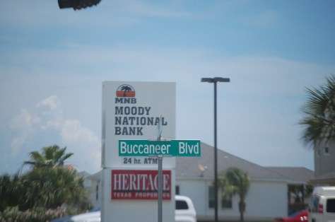 Many of the roads were named after pirates.  The main entry is Buccaneer Blvd.
