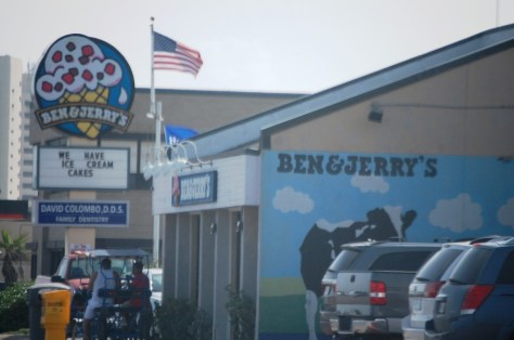 On the beach you want ice cream and Ben & Jerry's is there for you