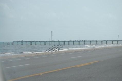 Drive along the Seawall Highway on Galveston Island